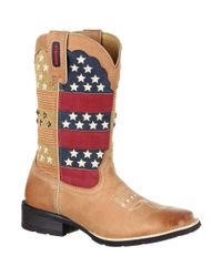 Durango - Brown Mustang Pull-on Patriotic Western Boot - Lyst