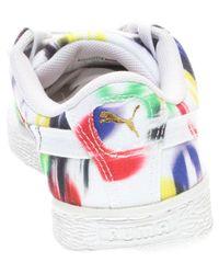 PUMA - White Basket Classic Canvas Blur W - Lyst