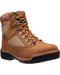 "Timberland - Brown Field Boot 6"" Fabric And Leather Waterproof Boot for Men - Lyst"