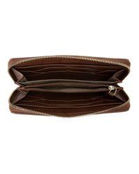 Cole Haan - Brown Genevieve Continental Zip Wallet - Lyst