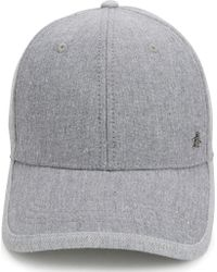 Original Penguin | Gray Chambray Pre-curved Ball Cap for Men | Lyst