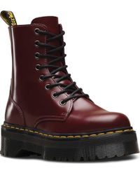 d41b53ceba3b Lyst - Dr. Martens Jadon 8-eye Boot in Red
