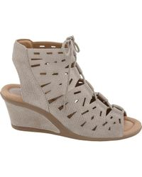 Earth - Multicolor Daylily Wedge Sandal - Lyst