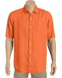 Tommy Bahama - Orange Sea Glass Breezer Short Sleeve Shirt for Men - Lyst