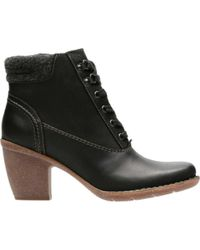 Clarks - Black Carleta Crane Lace Up Boot - Lyst
