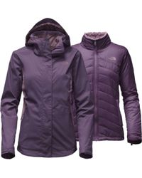 The North Face - Purple Mossbud Swirl Triclimate Jacket - Lyst