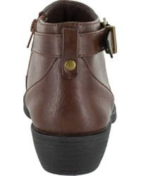 Easy Street - Brown Shannon Ankle Boot - Lyst