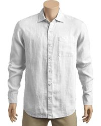 Tommy Bahama - White Seaspray Breezer Long Sleeve Shirt for Men - Lyst