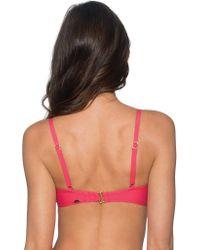 Sunsets - Pink Iconic Twist Underwire Twist Bandeau (efgh) - Lyst