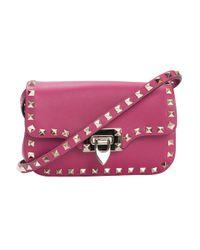 Valentino | Pink Rockstud Cross Body Bag | Lyst