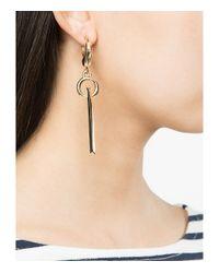 Eddie Borgo - Metallic Gold O-ring Bar Drop Earrings - Lyst