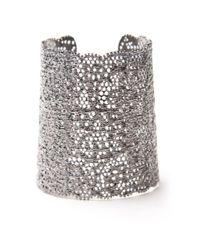 Aurelie Bidermann   Metallic Gunmetal Lace Cuff   Lyst