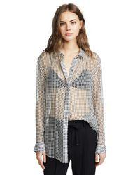 Theory - Black Essential Button Down Shirt - Lyst
