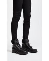 Frye - Black Samantha Hiker Boots - Lyst