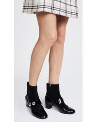 Marc Jacobs - Black Margaux Cabochon Ankle Booties - Lyst