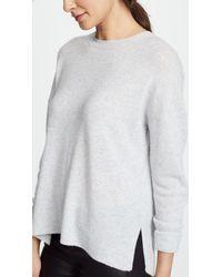 Theory - Gray Karenia Cashmere Sweater - Lyst