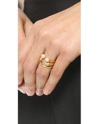 Vita Fede - Metallic Ultra Mini Freshwater Cultured Pearl Titan Ring - Lyst