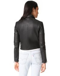 J Brand   Black Aiah Leather Jacket   Lyst