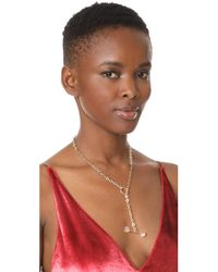 Saskia Diez - Metallic Barbelle Necklace - Lyst