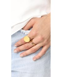 Vita Fede | Metallic Insignia Crystal Ring | Lyst