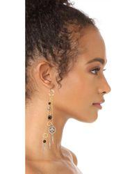Ben-Amun - Metallic Fringe Drop Fishhook Earrings - Lyst