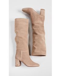 Tory Burch - Natural Brooke Slouchy 75mm Boots - Lyst