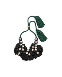 Lizzie Fortunato - Black Moonlight Bib Necklace - Lyst