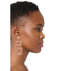 Kenneth Jay Lane | Multicolor Champagne Square Earrings | Lyst