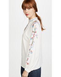 Vilshenko - White Faye Embroidered Silk Blouse - Lyst