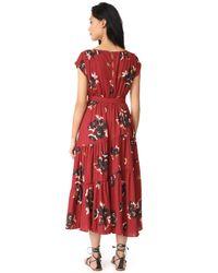 Free People - Red All I Got Maxi Dress - Lyst