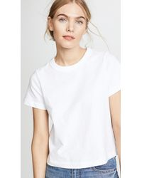 T By Alexander Wang - White Jersey Tee With Boy Crop - Lyst