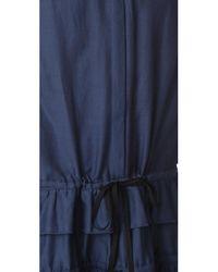 Robert Rodriguez - Blue Ruffle Tiered Dress - Lyst