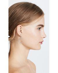Rebecca Minkoff - Metallic Celestial Hoop Earrings - Lyst