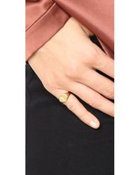 Jacquie Aiche - Multicolor Ja Burst Flat Top Signet Pinky Ring - Lyst