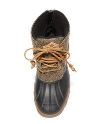 Sperry Top-Sider - Brown Saltwater Wedge Tide Wool Booties - Lyst
