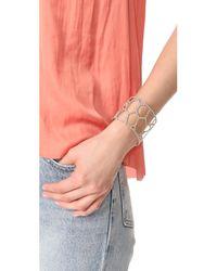 Alexis Bittar - Metallic Honeycomb Frame Cuff Bracelet - Lyst