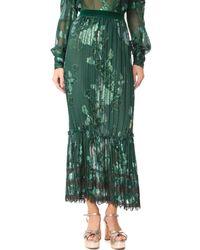 Anna Sui - Green Moonlight Skirt - Lyst