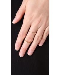 Elizabeth and James   Metallic Miro Knuckle Ring   Lyst