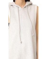 Hudson - Multicolor Sleeveless Hoodie Dress - Lyst