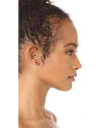Rebecca Minkoff - Multicolor Stacked Baguette Earrings - Lyst