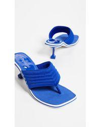 Jeffrey Campbell - Blue Overtime Kitten Heel Flip Flops - Lyst