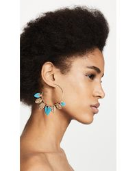 Aurelie Bidermann - Multicolor Thalitha Hoop Earrings - Lyst