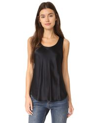 Vince - Black Bias Silk Top - Lyst