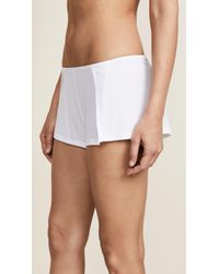 Only Hearts - White Ribbed Sleep Short - Lyst