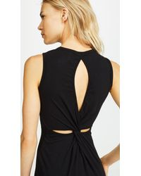 Sundry - Black Twisted Dress - Lyst