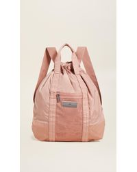99a57af23a Lyst - adidas By Stella McCartney Gym Sack Backpack in Pink
