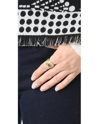 Aurelie Bidermann - Metallic Cashmere Ring - Lyst