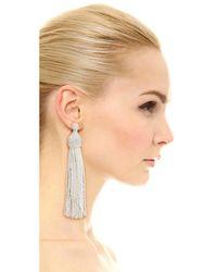Kenneth Jay Lane - White Tassel Earrings - Lyst