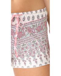 Pj Salvage | Natural Floral Paisley Pj Shorts | Lyst