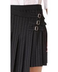 McQ Alexander McQueen | Black Wrap Kilt Skirt | Lyst